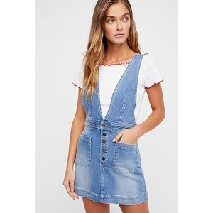 A-Line Button Up Skirt Overall